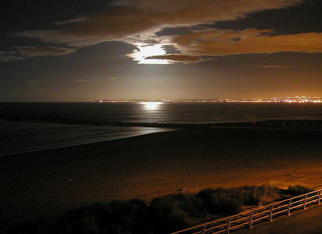 Swansea Bay by moonlight