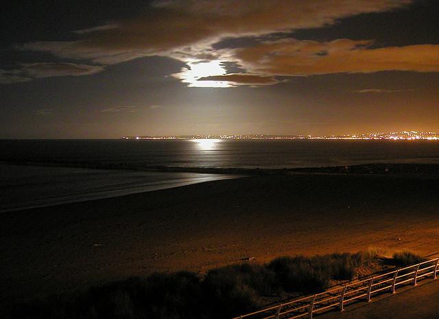 Swansea Bay by moonlight